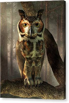 Great Horned Owl Canvas Print by Daniel Eskridge