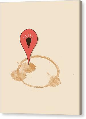 Great Idea Begins Here Canvas Print by Neelanjana  Bandyopadhyay