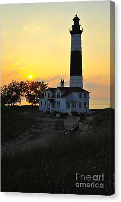 Great Lakes Lighthouse Big Sable Point Canvas Print by Terri Gostola