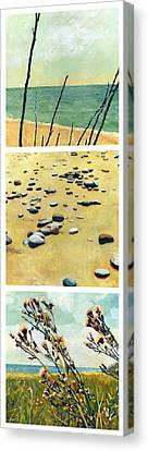 Great Lakes Triptych 2 Canvas Print by Michelle Calkins