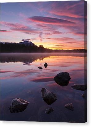 Maine Mountains Canvas Print - Great Mountain Sunrise by Patrick Downey