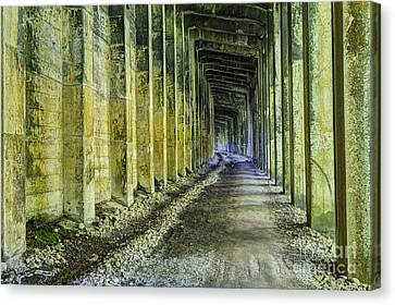 Great Norther Railroad Snow Shed Canvas Print by Mark Kiver