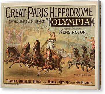 Great Paris Hippodrome At Olympia Canvas Print by British Library