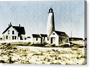 Great Point Lighthouse Nantucket Canvas Print by Bill Cannon