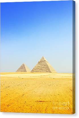 Great Pyramid Of Giza Canvas Print by Mohamed Elkhamisy