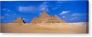 Great Pyramids, Giza, Egypt Canvas Print by Panoramic Images
