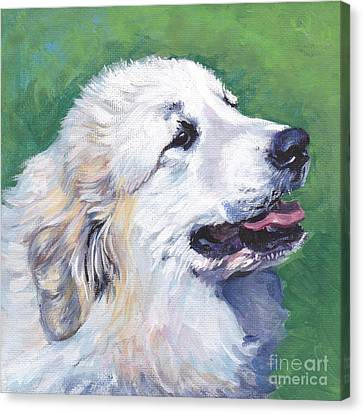 Great Pyrenees  Canvas Print by Lee Ann Shepard