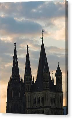 Great Saint Martin Church And Cologne Canvas Print