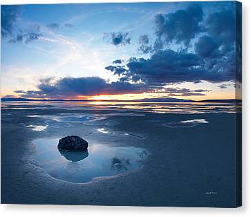 Great Salt Lake Canvas Print by Leland D Howard