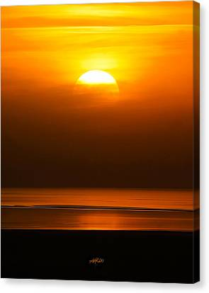Great Salt Lake Sunset Canvas Print by Kirk Strickland