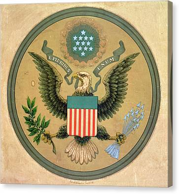 Great Seal Of The United States, C.1850 Litho Canvas Print by Andrew B. Graham