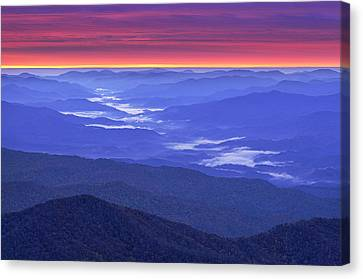 Great Smokey Mountains Canvas Print by Christian Heeb