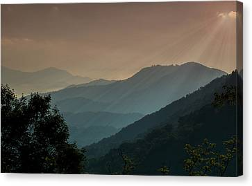 Canvas Print featuring the photograph Great Smoky Mountains Blue Ridge Parkway by Patti Deters