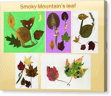 Canvas Print featuring the painting Great Smoky Mountain's Leaf by Ping Yan