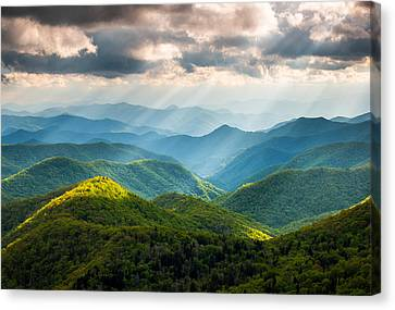Mountain Canvas Print - Great Smoky Mountains National Park Nc Western North Carolina by Dave Allen