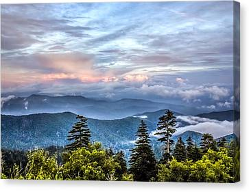 Canvas Print featuring the photograph Great Smoky Mountains by Rob Sellers