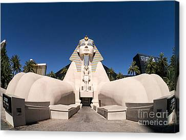 Great Sphinx Of Giza Luxor Resort Las Vegas Canvas Print by Edward Fielding