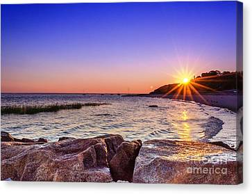 Canvas Print featuring the photograph Saints Landing Cape Cod by Mike Ste Marie