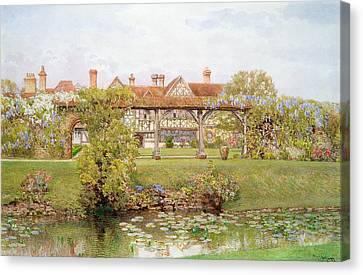 Great Tangley Manor, Surrey Canvas Print by Thomas H. Hunn