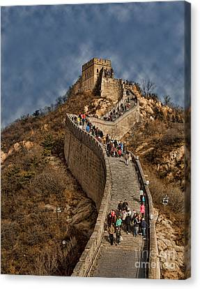Canvas Print featuring the photograph Great Wall O China by Shirley Mangini