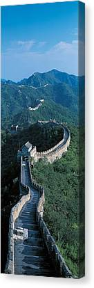 Great Wall Of China Beijing China Canvas Print by Panoramic Images