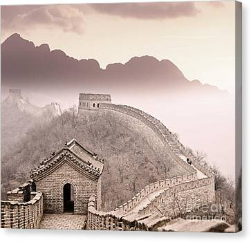 Ruin Canvas Print - Great Wall Of China by Delphimages Photo Creations