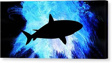 Water Canvas Print featuring the painting Great White by Aaron Berg