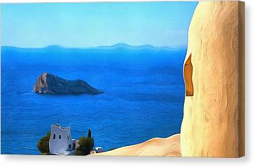 Grecian Blue Canvas Print by Mick Flynn