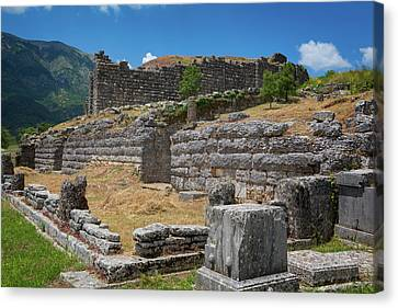 Zeus Canvas Print - Greece, Epirus. Ruins Of Ancient by Panoramic Images
