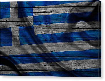 Greece Canvas Print by Joe Hamilton