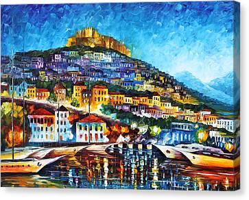 Greece Lesbos Island 2 Canvas Print by Leonid Afremov