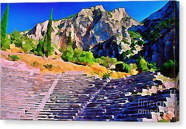 Greek Amphitheatre Canvas Print by John Malone
