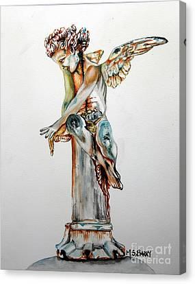 Greek Angel Canvas Print by Maria Barry