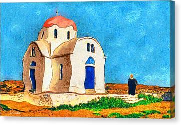 Greek Church 4a Canvas Print by George Rossidis