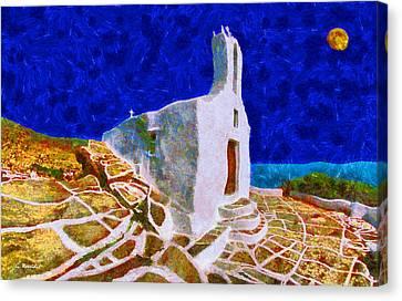 Greek Church 5 Canvas Print by George Rossidis