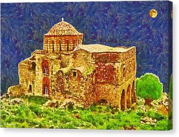 Greek Church 6 Canvas Print by George Rossidis