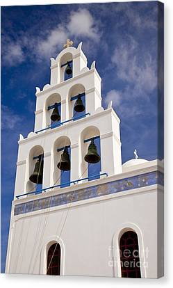 Greek Church Bells Canvas Print by Brian Jannsen