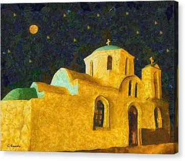 Greek Church Canvas Print by George Rossidis