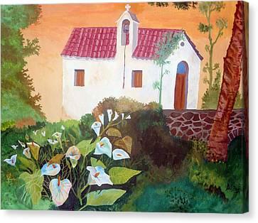 Greek Church Canvas Print