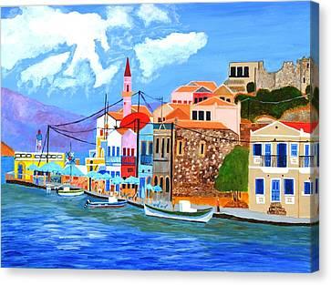 Greek Coast Canvas Print