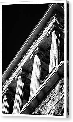 Nike Canvas Print - Greek Columns by John Rizzuto