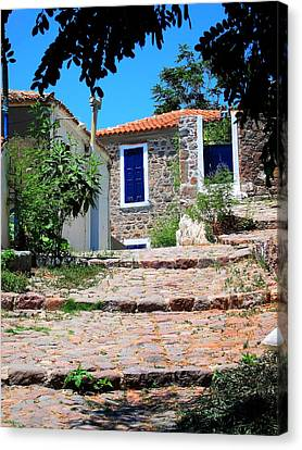 Canvas Print featuring the photograph Greek Country House by Andreas Thust