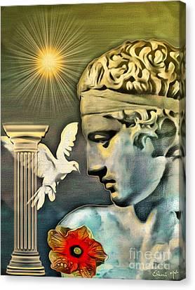 Greek God Canvas Print by Eleni Mac Synodinos
