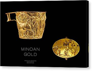 Greek Gold - Minoan Gold Canvas Print by Helena Kay