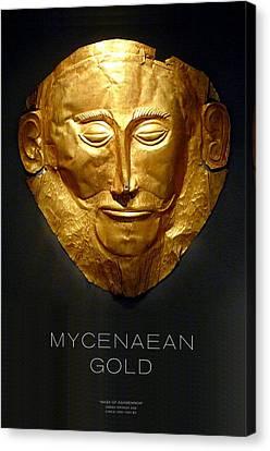 Greek Gold - Mycenaean Gold Canvas Print by Helena Kay