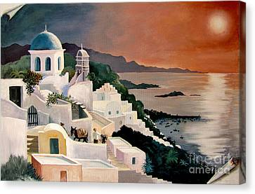 Greek Isles Canvas Print by Marilyn Smith