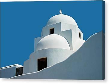 Greek Orthdox Church In Mykonos Canvas Print by Ed Freeman