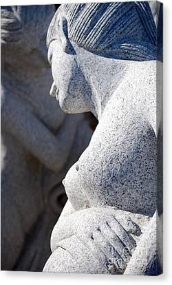Greek Statues Canvas Print by Antony McAulay