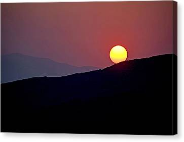 Greek Sunset Canvas Print by Frits Selier