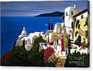 Greek Wedding Canvas Print